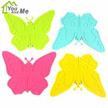 Cartoon Butterfly Shape Silicone Table Mat Can Be Hung Durable Non-Slip Heat Resistant Mat Coaster Placemat Baking