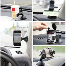 Universal 360 degree spin Car Windshield Mount cell mobile phone Holder Bracket stand for iPhone 6 7 for huawei Smartphone GPS