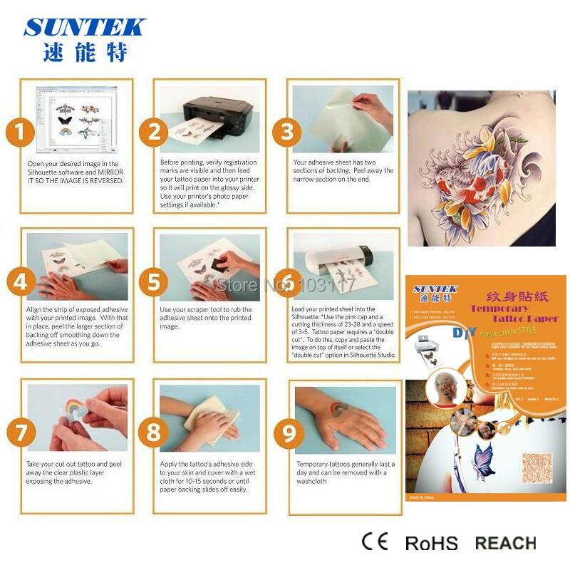 40sets Lot Water Transfer Printing Tattoo Paper Sticker For Inkjet Laser