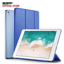 Case for iPad Pro 12.9 2017, ESR Color PU Leather Ultra Slim Transparent Back Tri-fold Smart Cover Case for iPad Pro 12.9 inches(China)