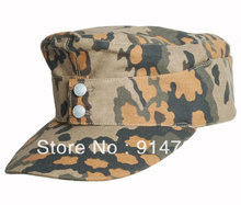 WWII GERMAN OAK LEAF CAMO FALL AUTUMN CAP HAT SIZE IN SIZES-33863