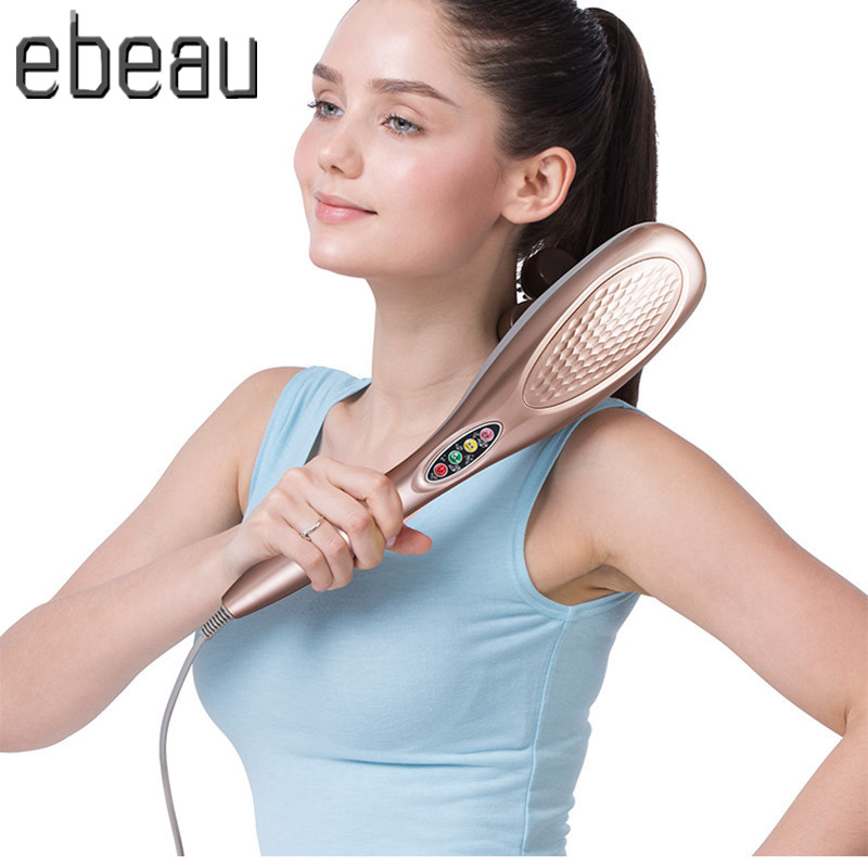 New Electric Body Massager neck massage hammer Dolphin Electric Cervical Vertebra Massage Device Beauty health Relax Instrumen<br><br>Aliexpress