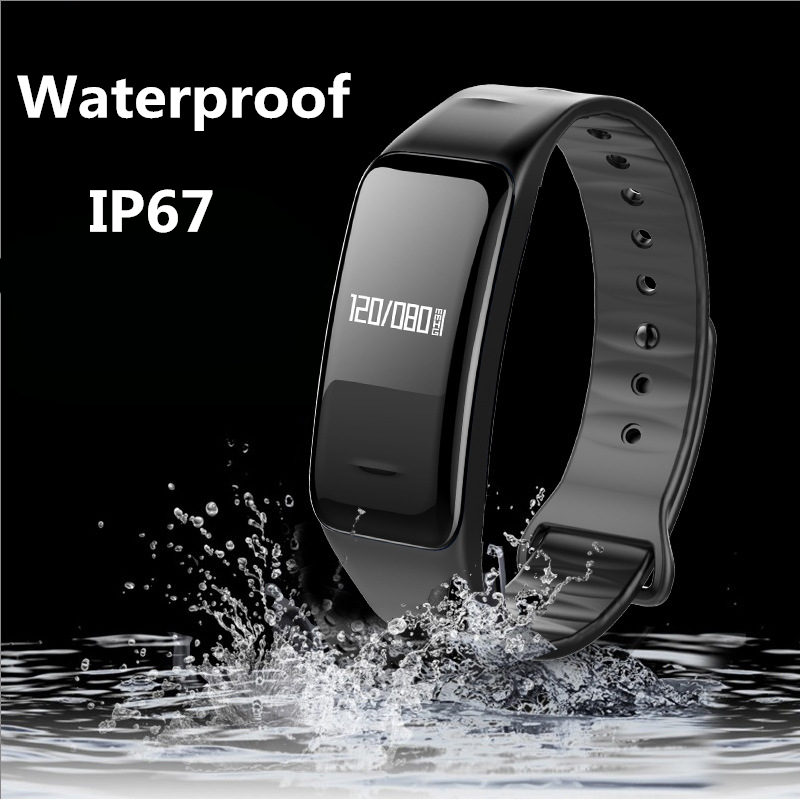 SMARCENT Bluetooth Fitness Tracker Smart Band Blood Pressure Heart Rate Sleep Monitor Smartband Wristband Bracelet PK mi band 2