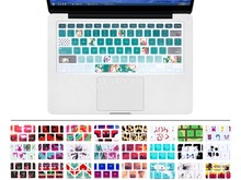 Green Pastoral Flowers Silicone US Keyboard Cover Keypad Skin Protector For Apple Mac Macbook Pro 13 15 17 Air 13 Retina 13(China)