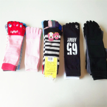 1Pair Whole Sale Women Five Socks Cotton Sock Knitted Men Casual Warm Solid Striped Standard Sox Owl Finger Cheap Ankle Socks
