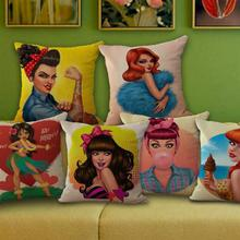 Super Creative! American Cartoon Fashion Girl Pillow For Sofa / Car Cushion Home Decorate Pillows Cushions