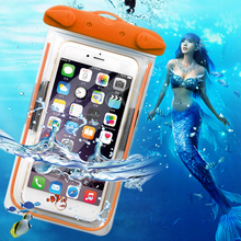 Clear Waterproof Pouch Dry Case For Camera Mobile phone Luminous Waterproof Bags for Blackberry Z10 Z30 Priv/Venice Leap