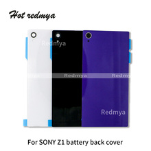Battery Back Housing Glass Cover Sony Xperia Z1 L39h Z1 Compact mini Z2 L50w Z3 MINI Copact Door Rear Cover Chassis+Sticker