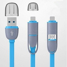 High quality Micro usb + 8pin USB 2 in 1 Sync Data Charger Cable for iPhone 5s 6s 7plus ipad 4 5For Samsung S4 S5 S6 for Android