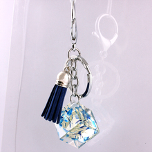 Glass Crystal Zinc Alloy Korean Fashion Car Buckle Accessories  keychain  in lot fashion key chain set   Mobile phone chain 8