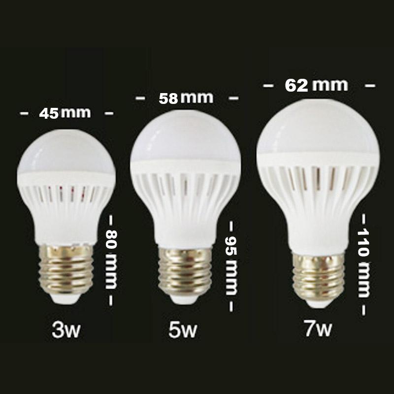 e27 led bulb smd 5730 3w 5w 7w 220v 110v