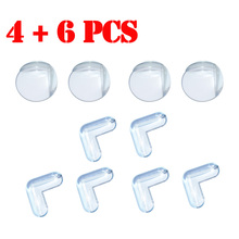 10pcs/lot Baby Safety products Corner Protector kids children protection safety baby security product silicone corner safe baby(China)