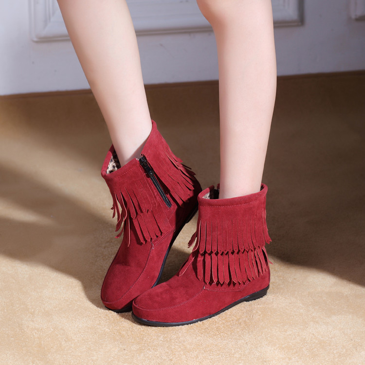 Big Size 30-48 Snow Boots New Womens Winter Boots Lace-up Flat  leaning Warm Fashion Folding Snow For Girls Women Shoes 208<br><br>Aliexpress