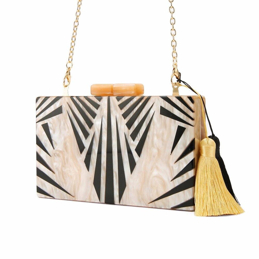 women shoulder bag fashion female messenger bag tassel crossbody Bags mini Fashion Bridal Ladies Evening Acrylic Box Clutch Bags<br>