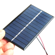 Hot Sale Mini Epoxy Solar Cell+Cable Mini Solar Panel DIY Solar Charger For 3.7V Batterty 50PCS/Lot 110*60*3MM Free Shipping(China)