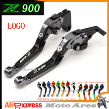 !Logo(Z900) Titanium For Kawasaki Z900 Z 900 2017 CNC Adjustable Folding Extendable Motorcycle Brake Clutch Levers(China)