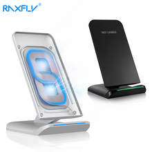 RAXFLY Qi Wireless Charger Stand For iPhone X 8 Plus Fast 5V/2A USB Charging For Samsung S8 Plus S7 S6 Edge Note 8 Pad Dock 10W(China)