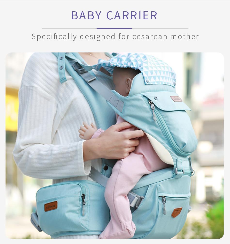 SUNVENO حقيبة وحمالة اطفال 10