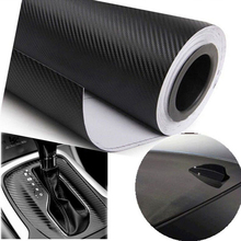 127cmX30cm 3D Carbon Fiber Vinyl Film Car Accessories Motorcycle Carbon Fibre Car Wrap Sheet Roll Film Sticker Decal Car Styling(China)