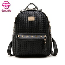 New 2016 Fashion Luxury Backpack Women Bags Designer Brand Famous Japan Korean Style Resin Mesh Rivets Women Shoulders Bag(China)