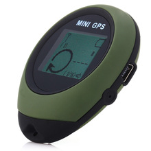 Portable Keychain Design Handheld GPS Trakcer with 16 POI Compass for Outdoor Travel Mini Watch-shaped Design for Outdoor Travel