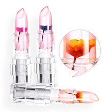 Moisturizer Long Lasting Transparent Color Changing Jelly Lipstick Waterproof Magic Colors Cosmetics Makeup Flower Lip Stick(China)