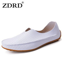 ZDRD maleFashion brand Flat sport shoes men Loafers Breathable Hollow Tide ferrari Peas Shoes Outdoor Comfortable krasovki Shoe(China)