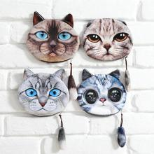 2017 3D Animal Prints Mini Coin Bags Cartoon Cat Dog Women Storage Pouch Cute Dog Wallets Kids Coin Purses with Tail P4