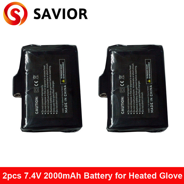 Savior Heated glove battery as 7.4V,2200mAh, 7.4V,3000MAH for heated glove,heated products,lithium polymer battery 1 pairs<br><br>Aliexpress