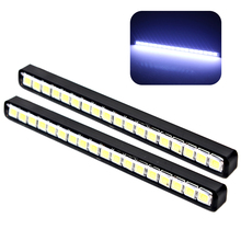 2pcs Waterproof 18 LEDs Car DRL Daytime Running Lights Auto Daylight Car Daytime LED Light Lamps Car Styling(China)