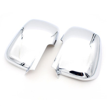 Dongzhen 2PCS Car Fit For Dodge Journey 2013 Chrome Body Side Mirror Cover Trim Molding Exterior Protection Auto Car Styling(China)