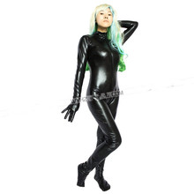 Buy Faux Leather Full Body Harness Apparel Fake Latex Catsuit Women Fetish Bondage Costumes Female Sexy Straitjacket SM Game Teddy