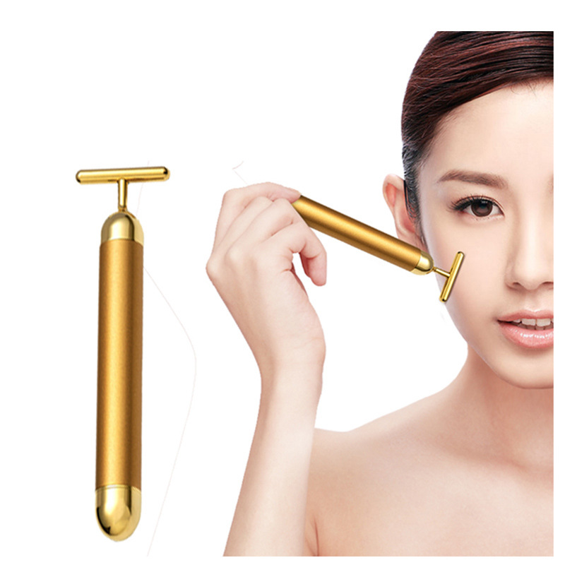 24k Gold Bar Vibration Beauty Bar wrinkle lifting firming face Massage Bar Facial massager wrinkle black eyes fine lines 3