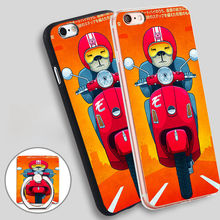 Vespa Print Soft TPU Silicone Phone Case Cover for iPhone 5 SE 5S 6 6S 7 Plus
