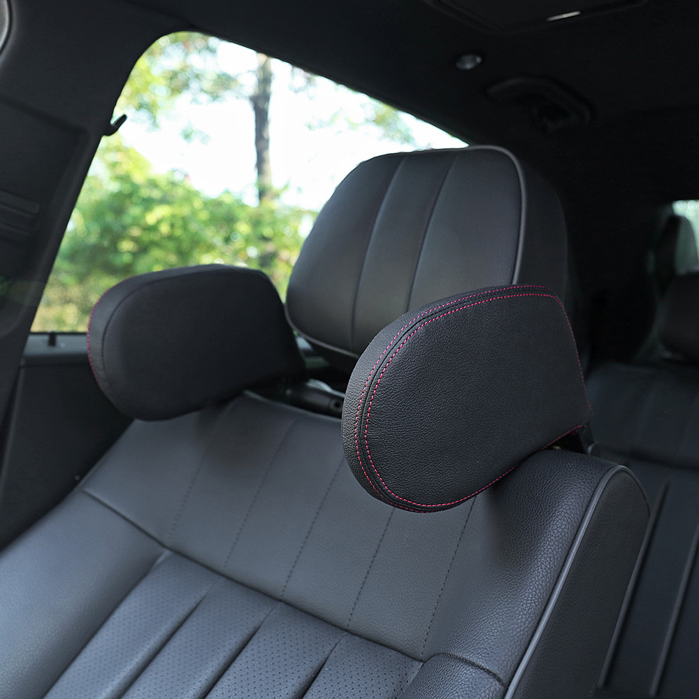 KKmoon Car Neck Pillow Headrest Cushion Neck Rest Pillow Interior Decor for Driving Seat Black /& Red