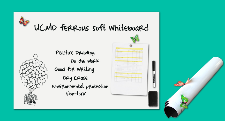 Soft Whiteboard Sheet for Wall Large Size Dry Erase Magnetic Flexible White board for Kids Room_01