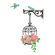 New qualified Fashion Flower Bird Wall Decal Sticker Vinyl Removeable Mural Sticker Home Deco(China)