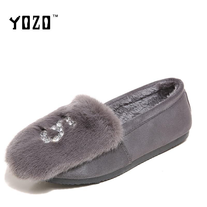YOZO Women Shoes Fashion Slip On Loafers Women Luxury Crystal Sexy Brand Shoes Women Flat Casual Shoes Women Zapatos Mujer<br><br>Aliexpress