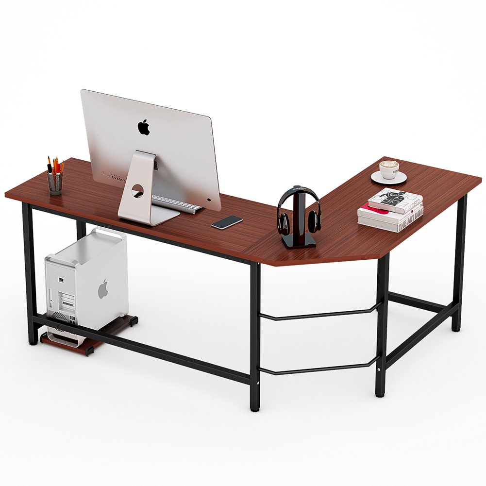 L-Shape Corner Computer Desk Office Home PC Laptop Workstation Work Table