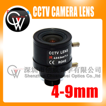 5pcs/lot 4-9mm Varifocal Fixed Iris Infra Red CCTV Camera Zoom Board Lens for cctv camera(China)