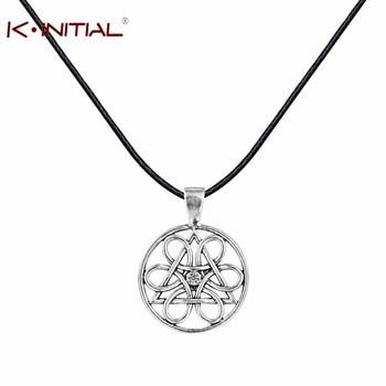 Kinitial 1Pcs Wheel of Life Necklaces & Pendants Vintage Statement Silver Slavic Pendant Collier Fashion Women Necklace Jewelry