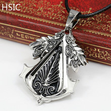 Buy HSIC Dropshipping Christmas Gift Game Assassins Creed Pendants&Necklace Metal Alloy 50cm Rope Chain Men Accessories 10830 for $1.59 in AliExpress store