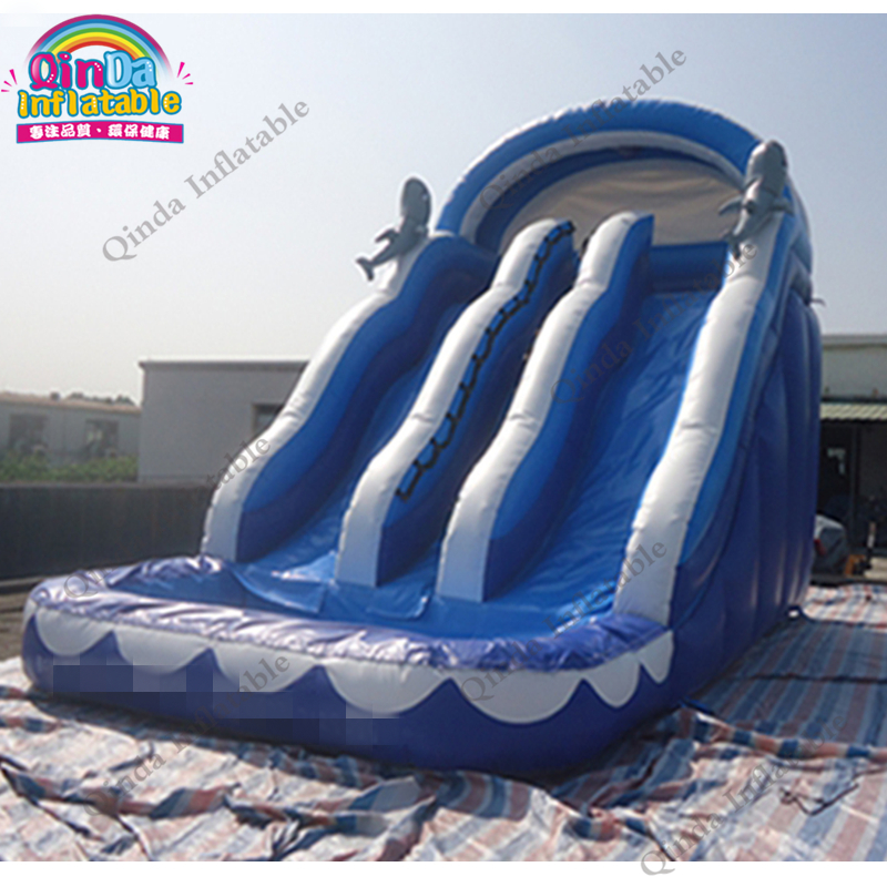 inflatable water slide with pool151