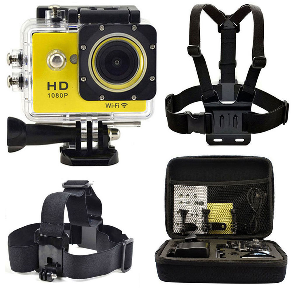 Kebo Head Chest+ Bag + 2.0 LCD WiFi W9 DV Action Camera Video Car Recorder DVR Go Sports pro Waterproof as SJ4000 SJ5000 SJ6000<br><br>Aliexpress
