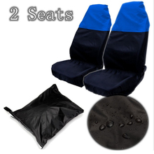 Universal 2* Car/Van Front Seat Cover Waterproof Protector Nylon +Bag Car Interior Covers Accessories