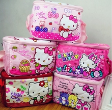 Hello Kitty Waterproof Thermal Cooler Insulated Lunch Storage Bag,kid lunch boxes Outdoor student Food Container mother baby bag(China)
