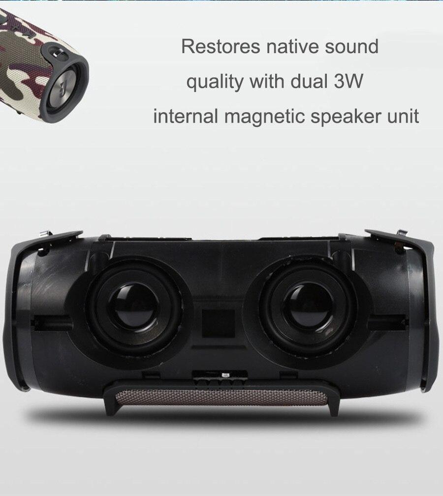 13 2018 Portable TF Card USB FM Radio Line in Wireless Fabric BT Speakers