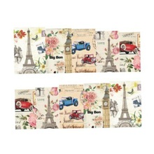 Vintage Paris Style 1Sheet Designs Nail Art Water Transfer Stickers Decals Beauty Full Wraps Manicure Decor Tools