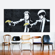 HDARTISAN Modern Oil Painting Graffiti Canvas Art Pulp Fiction Banksy Wall Pictures For Living Room Modular Pictures Home Decor