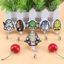 1pcs Cute Cartoon Star Wars Character Retractable Badge Reel Student Nurse Exihibiton ID Name Card Badge Holder Office Su(China)